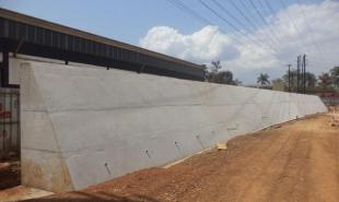 Construction of Box Culvert and retaining wall at the new Jinja Bridge