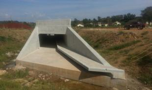 Construction of Box culvert and retaining wall at Jinja Nile Bridge
